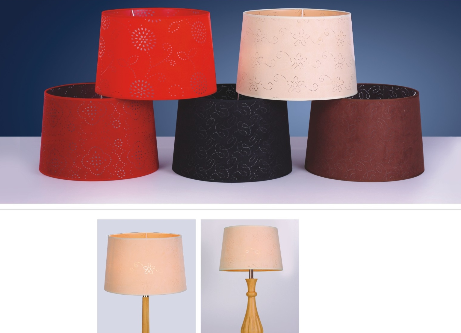 laser cut fabric lamp shades