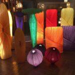 дизайнерские тканевые абажуры и светильники из фарфорового абажура и ткани производителя